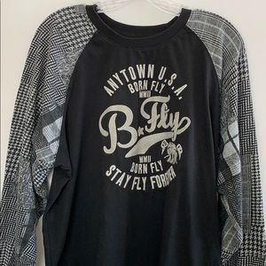 Born Fly Anytown Long Sleeve Tee Large Size